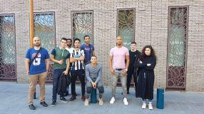 ATELIER BD: Nos jeunes découvrant les locaux de Hermes Fondation.