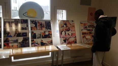 """Journée d'exposition des planches BD réalisé par les jeunes dans le cadre de l'atelier bande dessinée """"les métiers de mon quartier"""""""